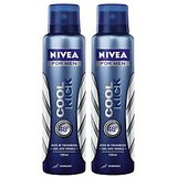 Nivea Men Cool Kick Pack Of 2 Deodorants 150ml Each