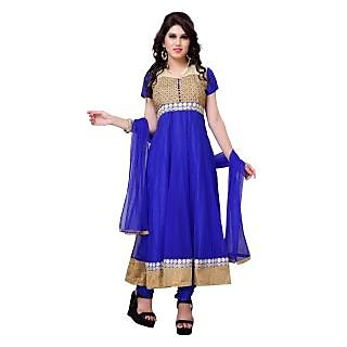 Diva Fusion Party/Festival wear Net semi-stitched anarkali salwar suit
