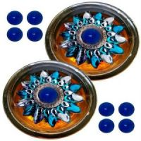 Set Of 2 Floating Diyas With 10 Wax Scented Candle