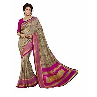 Bhavi Printed Ghicha Silk Sari (BHVP12525)