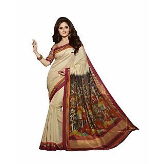 Bhavi Printed Cochin Silk Sari with Foil Print (BHVP12533)