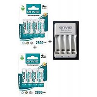 ENVIE 2800 MAH 8 BATTERIES WITH ENVIE AA OR AAA BATTERY CHARGER