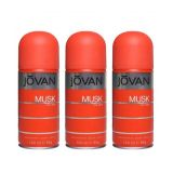 Jovan Men Musk Deo Pack Of 3-Each 150 Ml