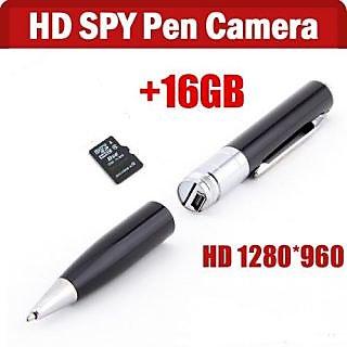 Mini 16GB Spy Golden Pen HD Video Hidden Camera Camcorder 1280 X 960 DVR