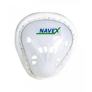 Navex White Pp And Cp Plastic Medium Abdominal Cricket Guard (2 Pieces)