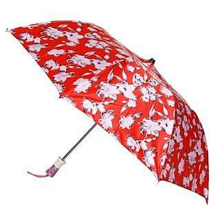 Floral RedWhite 2-Fold Umbrella