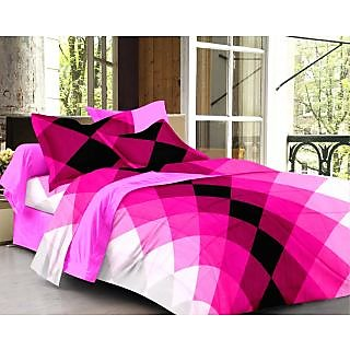 Story@ Home Pink 100% Cotton Forever 1 Double Bedsheet -FE1106