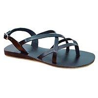 S.L 13007 Fancy Women Leather Black Sandals