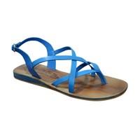 S.L 13007 Fancy Women Leather Blue Sandals
