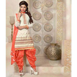 Off White Color Cambric Cotton Suit