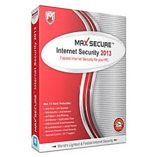 Max Secure Internet Security 2013 1 PC 1 Year