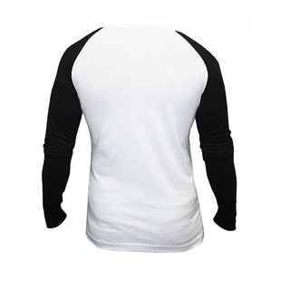 Rigo White Henley with Black Raglan Sleeves