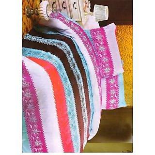 Valtellina Pollycotton Abstract Design Single Bed Sheet (NLS-011)