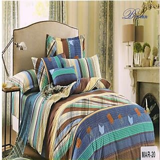 Valtellina Cotton Traditional Print Double Bedsheet & Two pillow Cover (Mar-20)