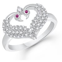 VK Jewels Nice Mayur Rhodium Plated Ring