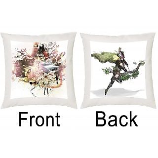 Snooky Sassy Colorful Digitally Printed 2Pcs Cushions Cover
