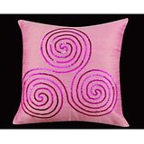 Aniraj Creations Cushion Covers Pink Swirl