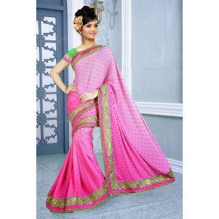 Pink Charming Shaded Saree