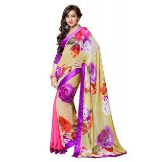 Chic multi colored Casual Wear saree