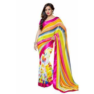 Lavishing multi colored Casual Wear saree