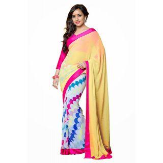 Multi colored Casual Wear saree