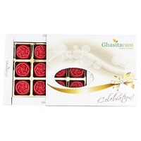 Ghasitarams Strawberry Roses 12 Pcs White Box