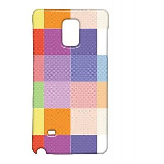 Pickpattern Back Cover For Samsung Galaxy Note 4 COLOURFULCHECKEREDNT4