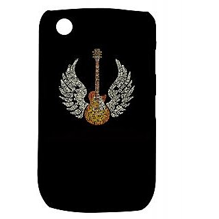 Pickpattern Back Cover For Blackberry Curve 8520 TYPOGRAPHYGUITAR8520