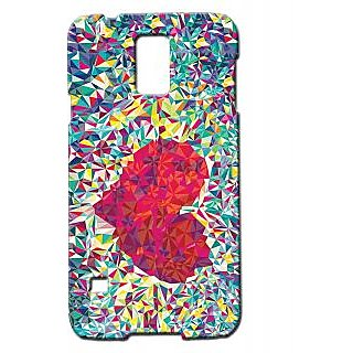 Pickpattern Back Cover For Samsung Galaxy S5 Sm-G900I GLASSHEARTS5