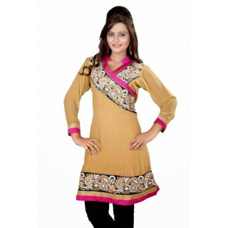 Gorgeous Cream Party Wear Kurti