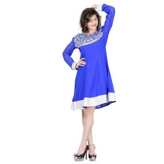 Attractive Blue Georgette Kurti