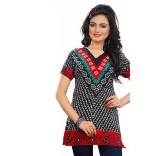 Attractive Black Crepe Kurti