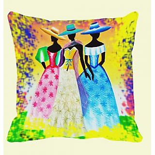 meSleep Hat Girls Cushion Cover  (20x20)