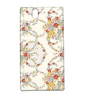 Pickpattern Back Cover For Sony Xperia Z FLOWERVINTAGEXZ
