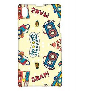 Pickpattern Back Cover For Sony Xperia Z1 SNAPCHEESEXZ1