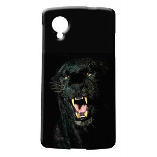Pickpattern Back Cover For LG Google Nexus 5 BLACKTIGERN5