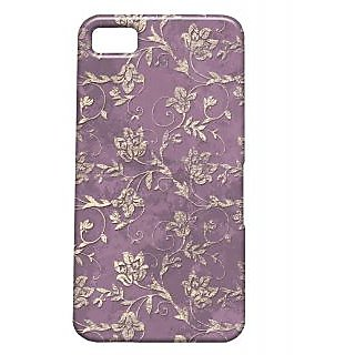 Pickpattern Back Cover For Blackberry Z10 MAUVEGOLDZ10