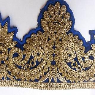 saksham blue embroided border