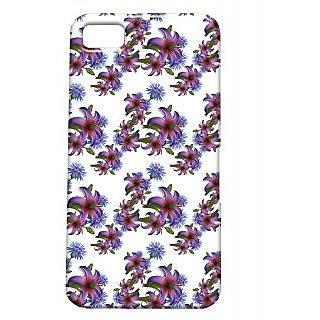 Pickpattern Back Cover For Blackberry Z10 NIGHTFLOWERZ10