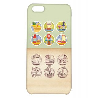 Pickpattern Back Cover For Apple iPhone 5C FRENCHRESTAURANTI5C