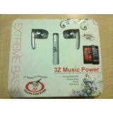 Earphone 3Z Music Power - Nokia & Samsung 3.5mm Jack- HQ Sound