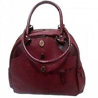 Maroon Casual Plain Handbag