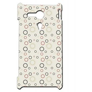 Pickpattern Back Cover For Sony Xperia SP RETROCIRCLESSP