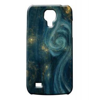 Pickpattern Back Cover For Samsung Galaxy S4 Mini i9190 BLUESWIRLS4M