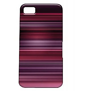 Pickpattern Back Cover For Blackberry Z10 MAGENTALINESZ10