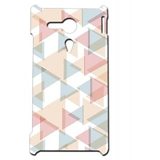 Pickpattern Back Cover For Sony Xperia SP PASTELTRIANGLESSP