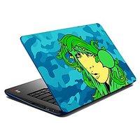 Mesleep  Green Girl Laptop Skin LS-07-12