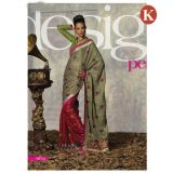 Khazana Green And Red Jackard Saree With Unstitched Blouse