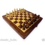 Welkin Wooden Chess Board With Coins 16 X 16 Size