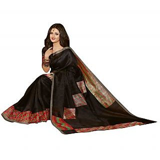 Bhavi Printed Sanganeri Silk Sari with Foil Print (BHVP12550)